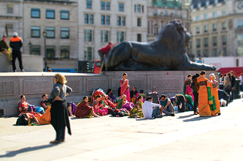 Bollywood Dancers in Trafalgar Square