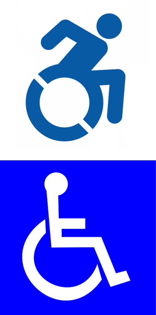 New disabled logo concept