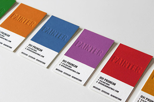 Painter business card - James Prunean