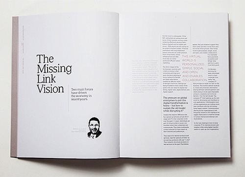 The Missing Link Editorial Design.
