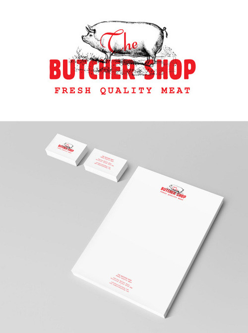 The Butcher's Shop logo - Alexandros Mavrogiannis