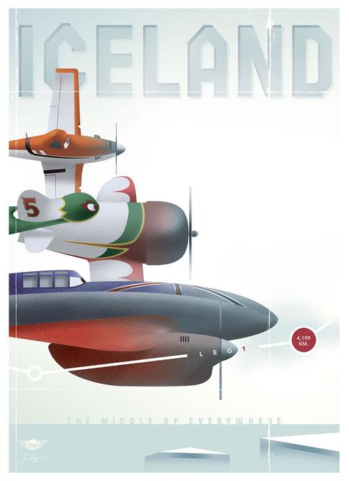 Vintage Disney Planes posters - Stéphane Kardos