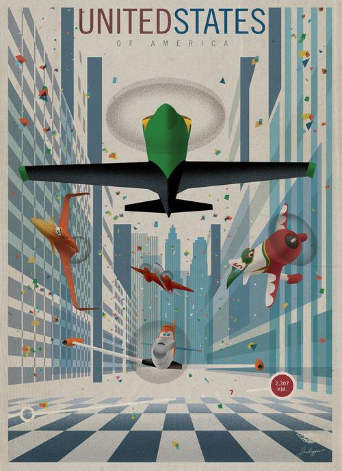 VintageDisney Planesposters - Stéphane Kardos