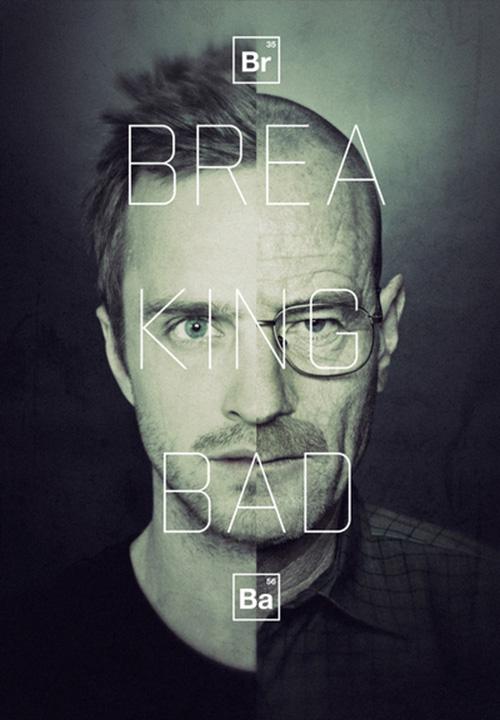 Breaking Bad Art - Jesse Pinkman and Walter White