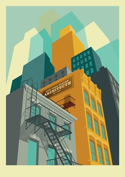 New York Illustrations - Remko Heemskerk