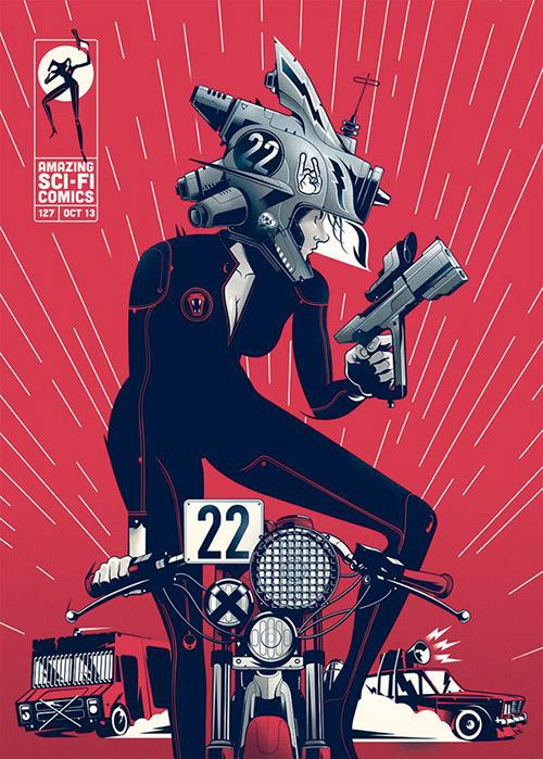 Amazing Sci-Fi Comics #127 by Gabriel Silveira