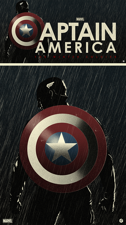 Captain America Poster -Doaly