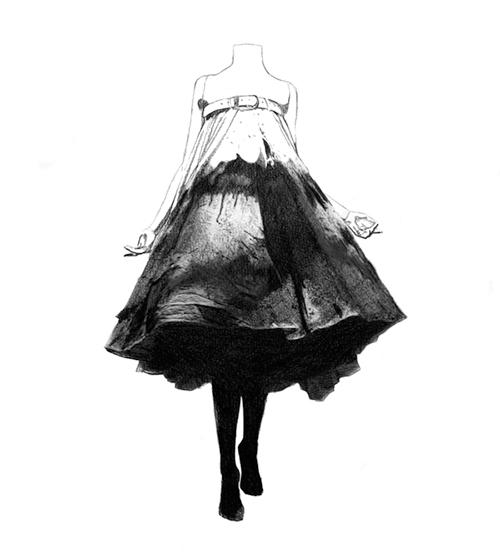 Fashion Illustration - Sarabande de McQueen