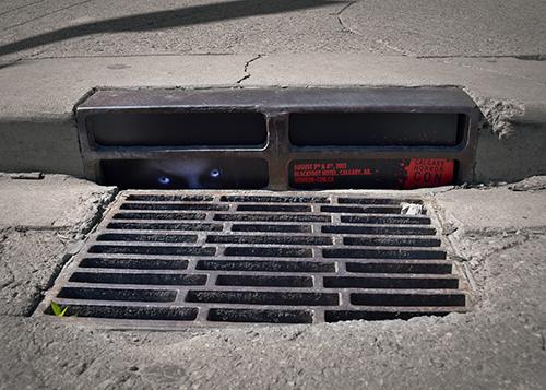 Calgary horror convention storm-drain advert