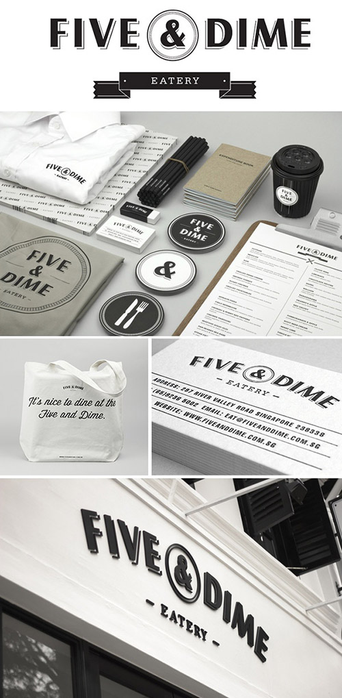 Five & Dime branding