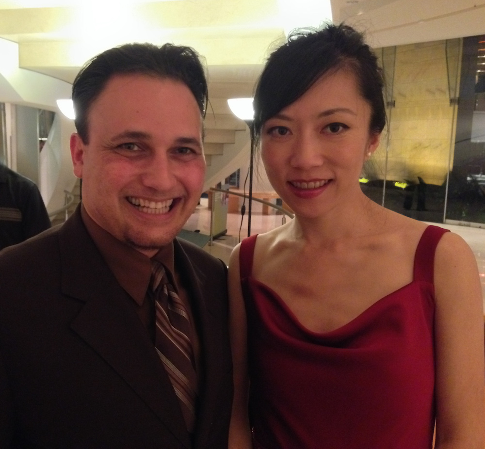 With Xuefei Yang at Renee & Henry Segerstrom Concert Hall, Oct 25, 2013