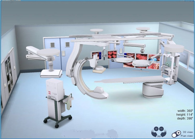 Hybrid Surgical Suite Design w/ Philips FD20 + Skytron Surgical Lights & Equipment Booms