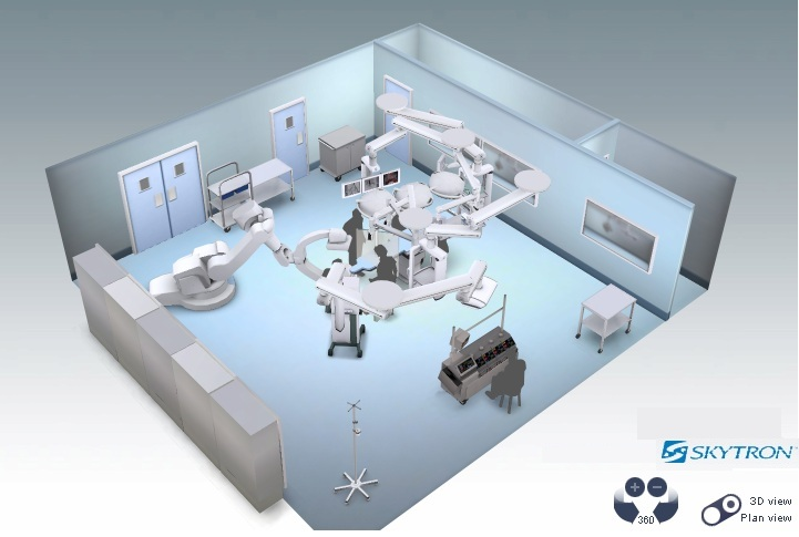 Hybrid Surgical Suite Design w/ Siemens ZEEGO + Skytron Surgical Lights & Equipment Booms