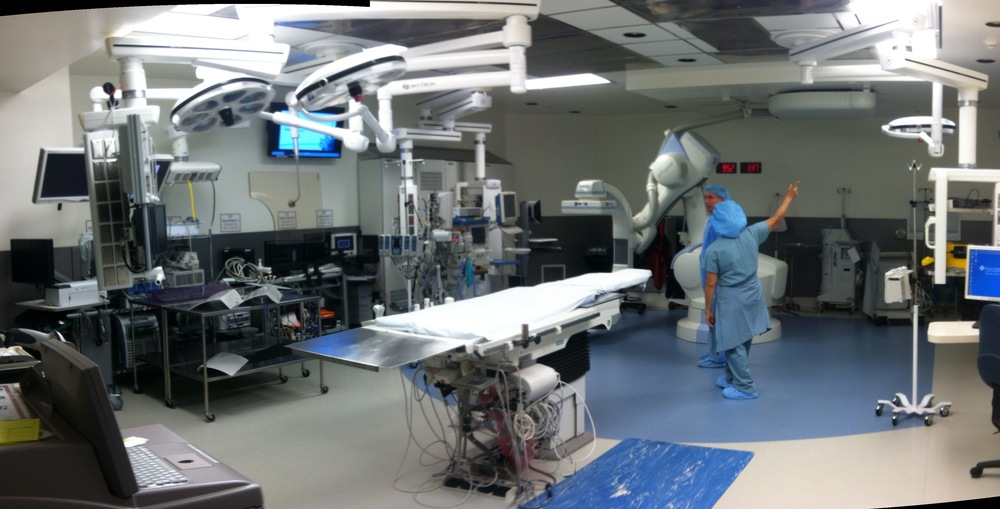 Hybrid Operating Room with Skytron Equipment Booms, Skytron Surgical Lights, & Siemens Zeego Imaging system.
