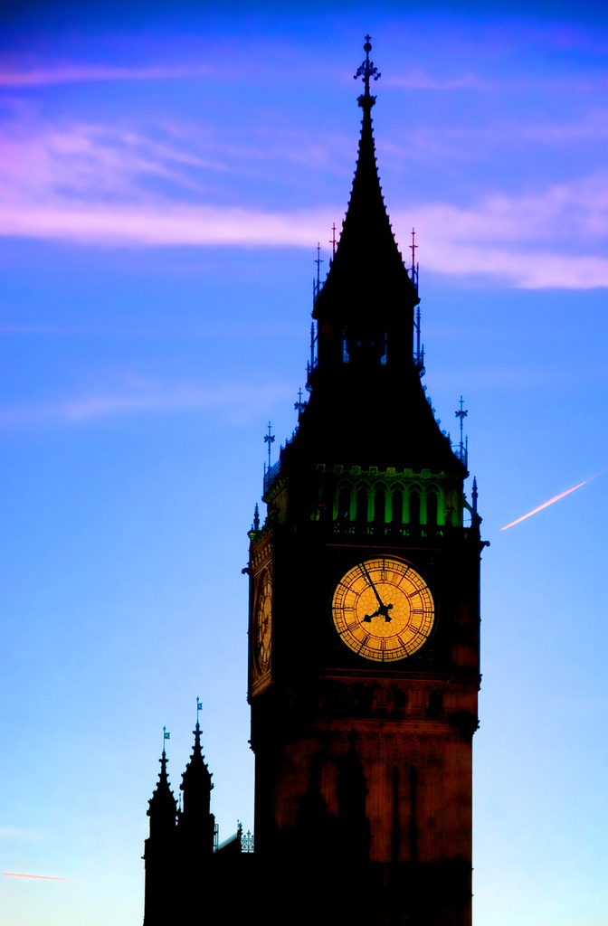 The clock face all aglow (click to enlarge)