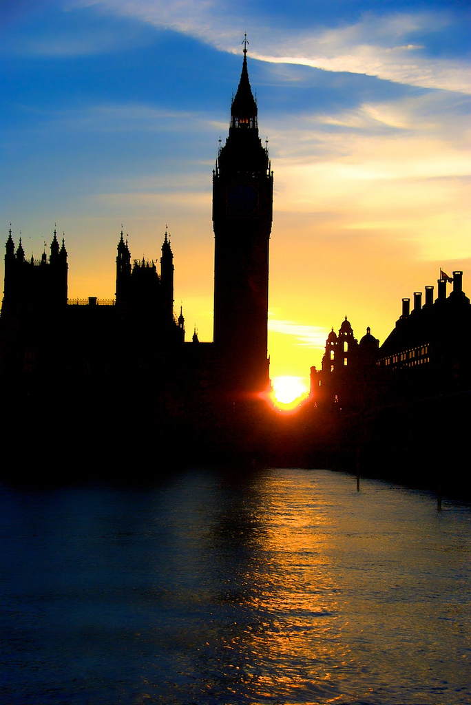 Sunset on Big Ben (and on my ode to it!)