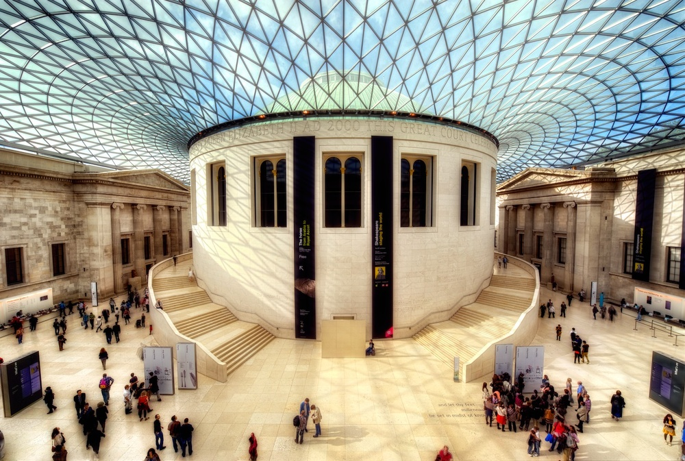 The grand interior courtyard of the British Museum - just amazing architecture!