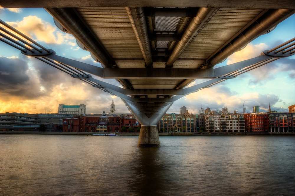 This was shot from under the Millennium Bridge during an obviously stellar sunset.