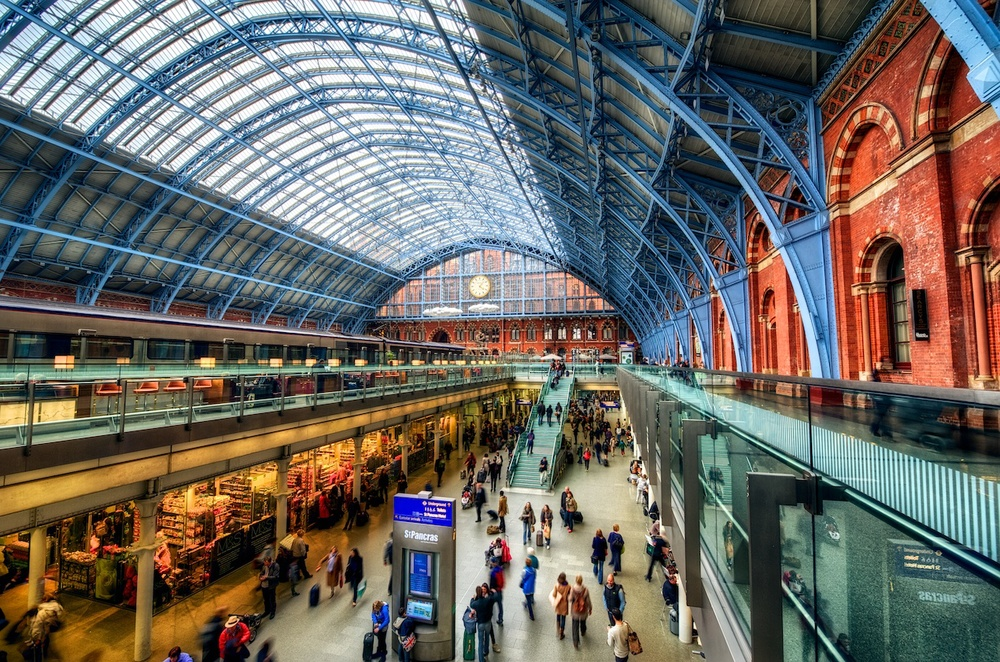 St. Pancras Station in London - train stations are perfect spots for wide-angle shooting.