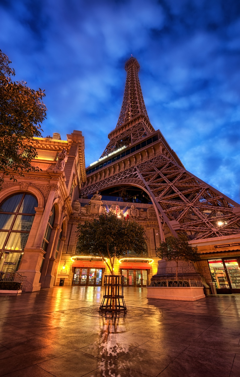 A slightly different look at the Eiffel Tower.