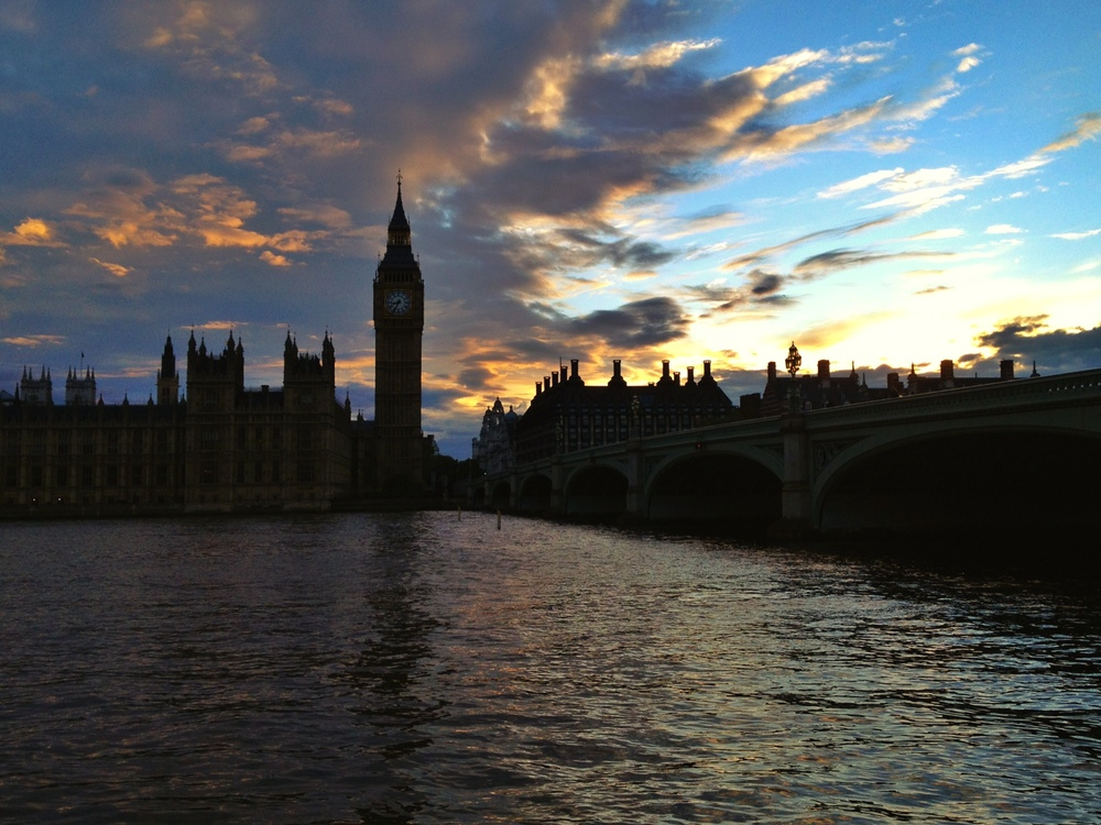 I had a great sunset in London - love this spot!