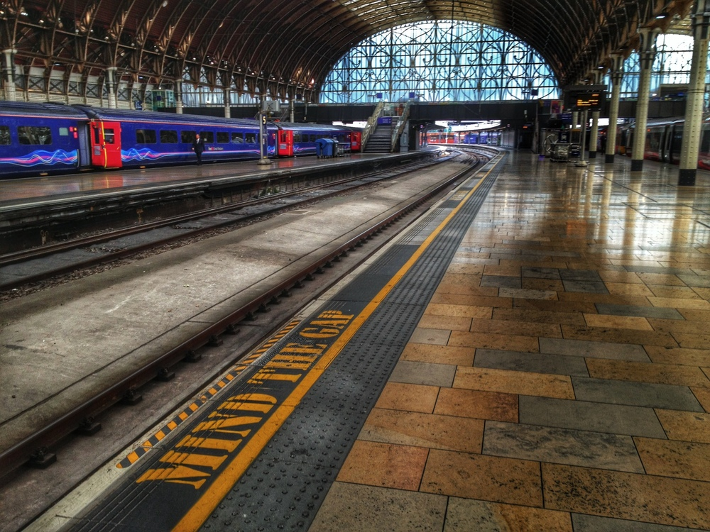 Mind the Gap - caught this in Paddington Station.
