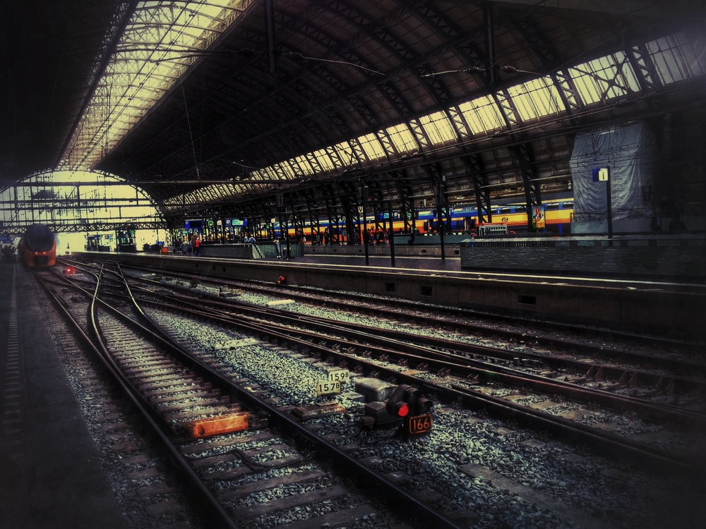Central Station in Amsterdam - always good for the grungy treatment!