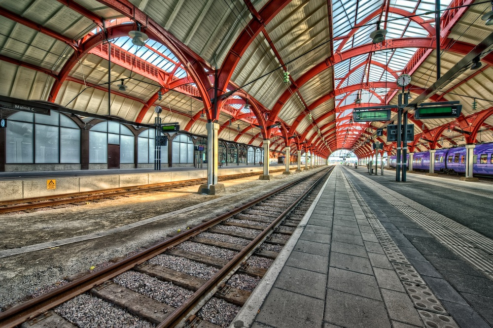 Central Station in Malmo, Sweden - just loved all the lines here!