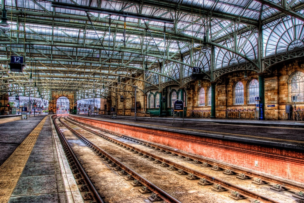 Glasgow Central Station - Scotland.  I had this all to myself, and I loved it!