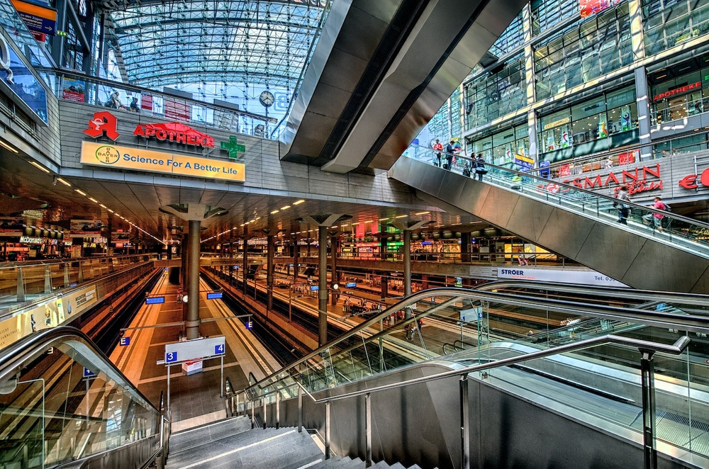 Berlin Hauptbahnhof - what a crazy but awesome place!