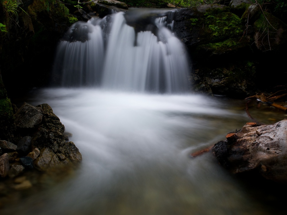 F/22, 5 seconds, ISO 100 on a tripod, at 21mm - and a ProMaster Variable ND filter.