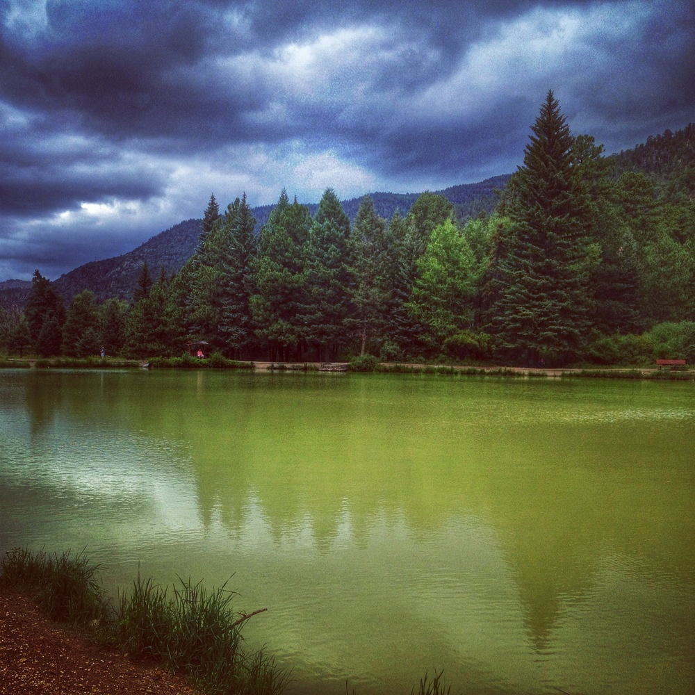 Stormy skies at Fawn Lakes - Red River, NM