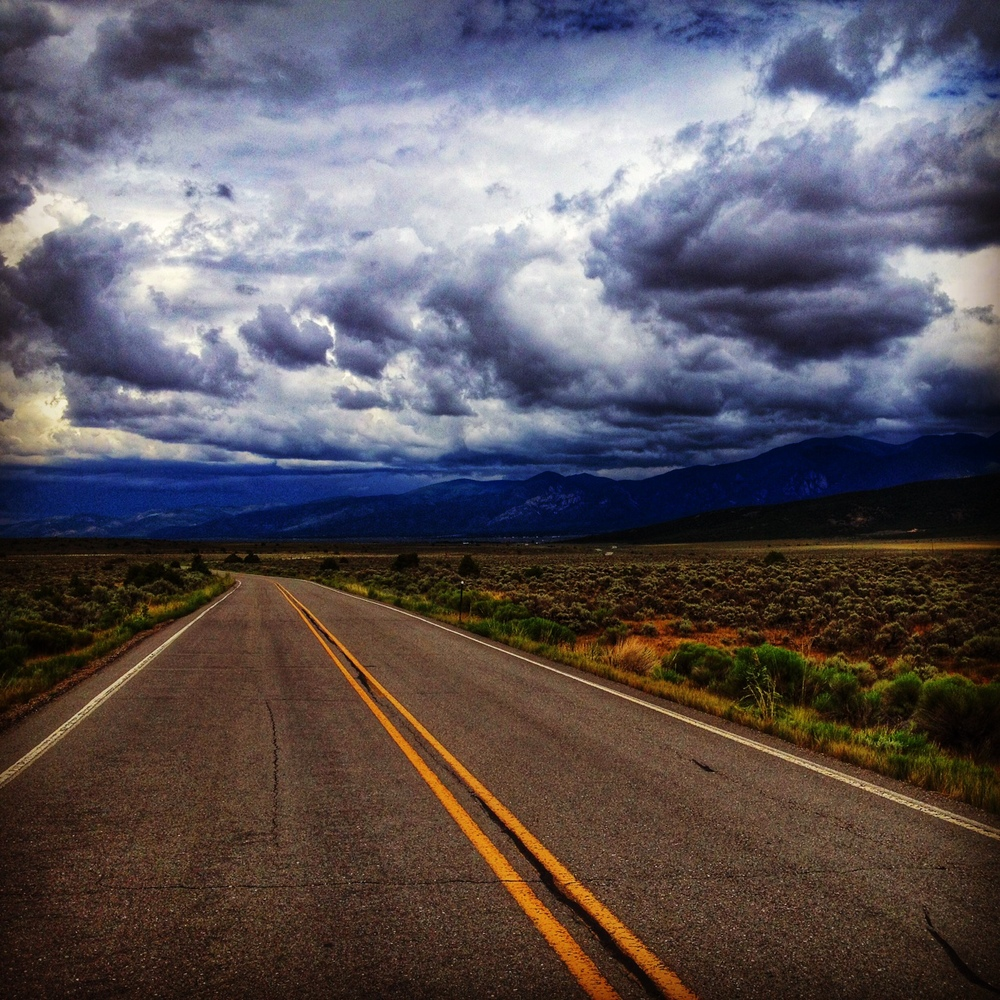 The wild open road out West