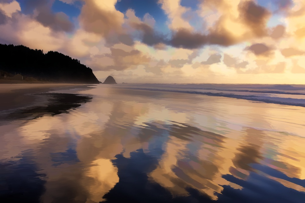 Ok this one isn't London - it's a nice sunset I shot out in Oregon...all done up with Simplify!