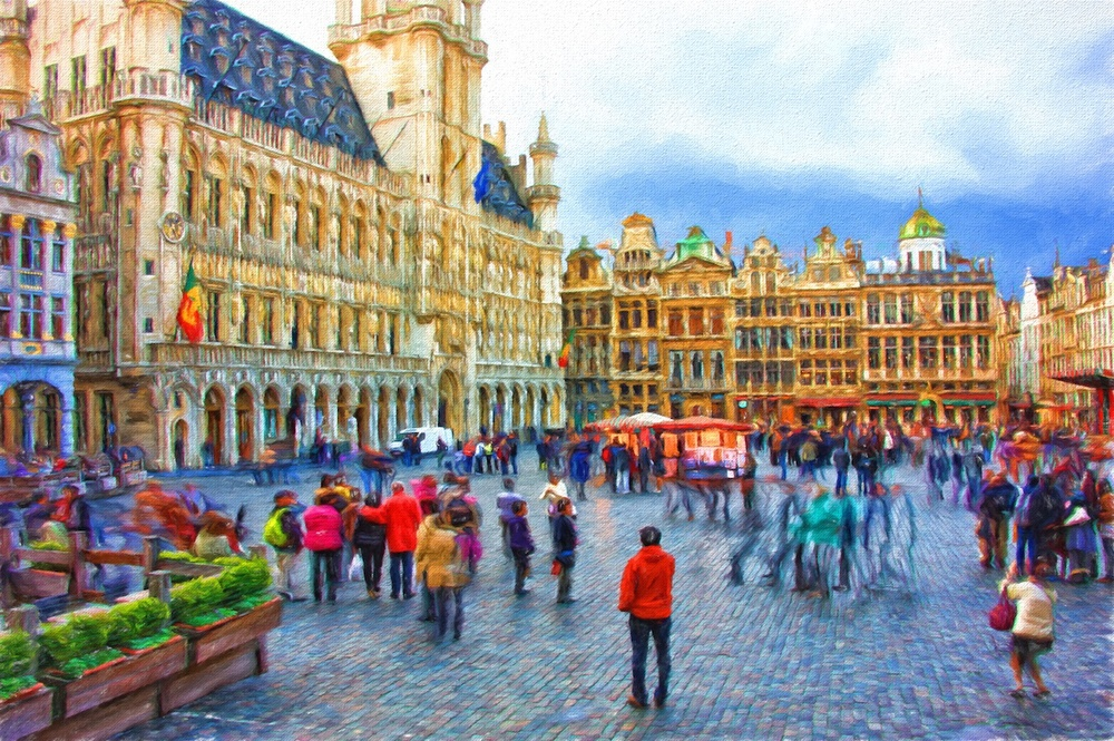 Grand Place in Brussels - also used the Cezanne effect here.