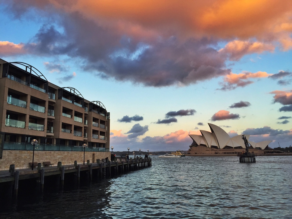 And one more of the opera House, during that killer sunset.  Such a photogenic building!