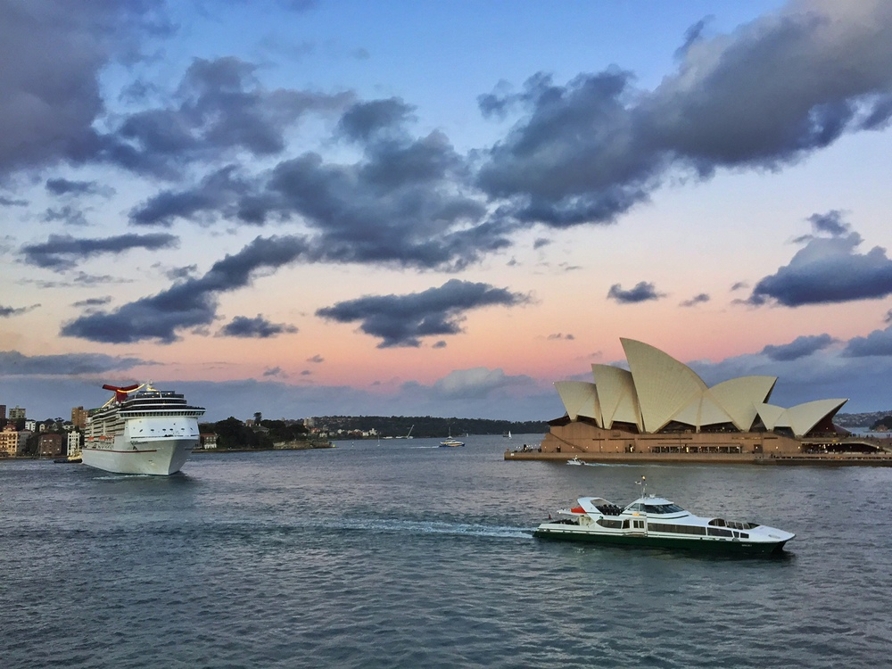 Yep, it's the Opera House again - big surprise!  But I did like the sunset light here...
