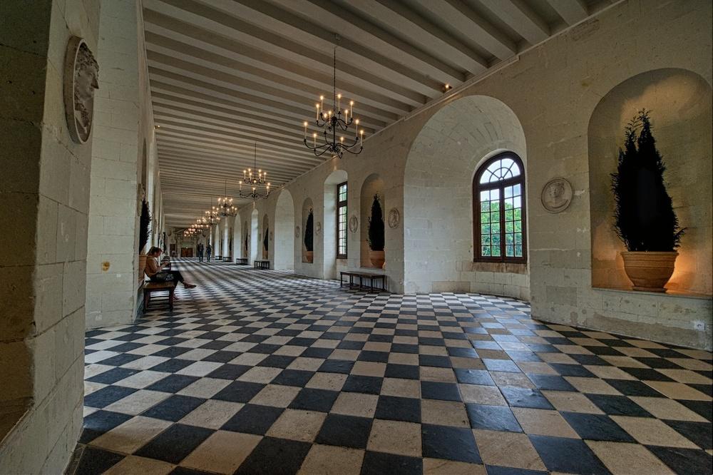 The grand hallway...