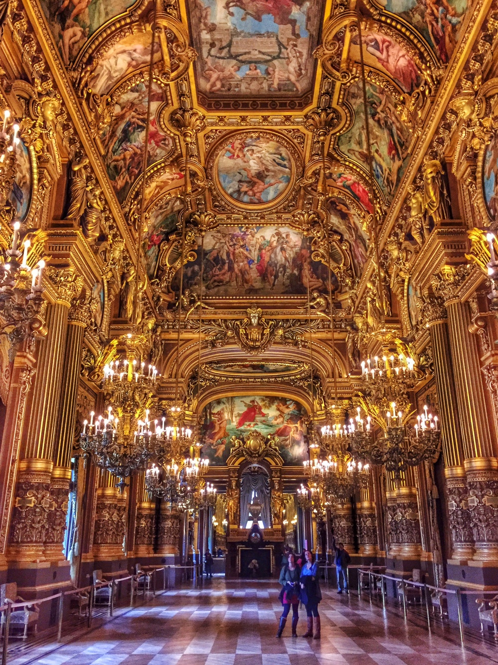 Inside the Paris Opera Garnier