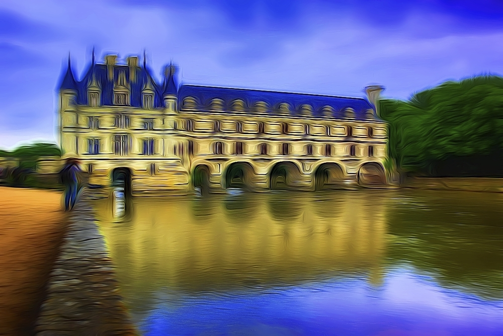 chateau de chenonceau in the loire valley of france