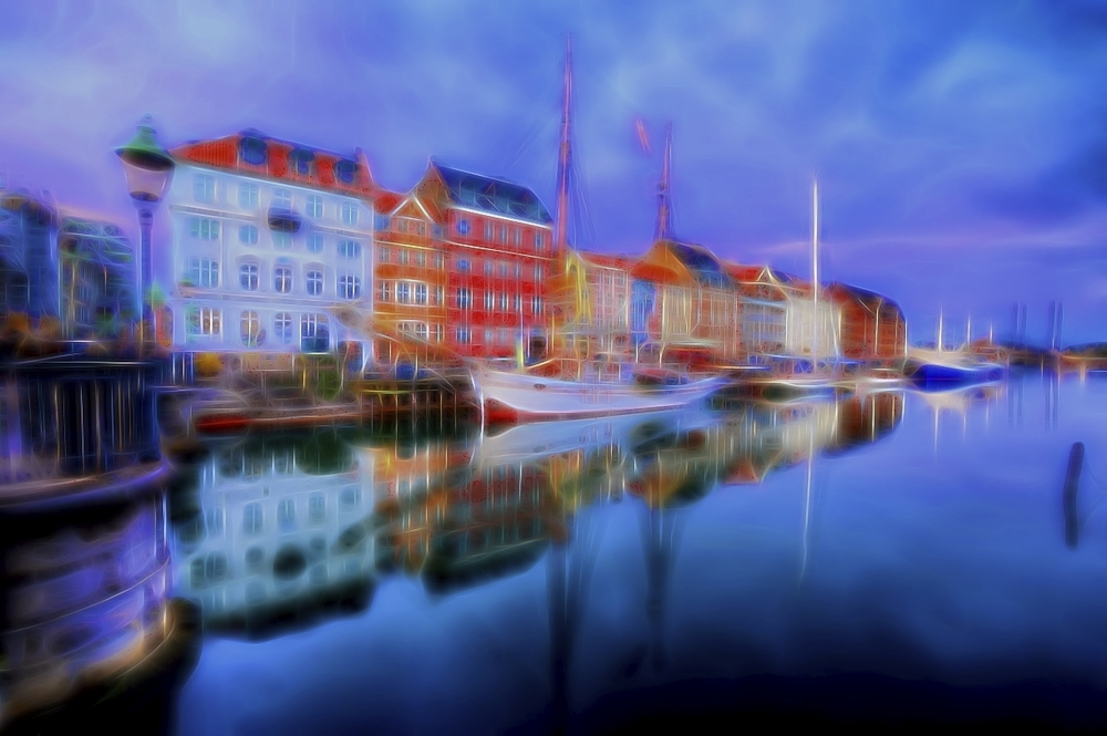 the famous port of nyhavn in copenhagen, denmark