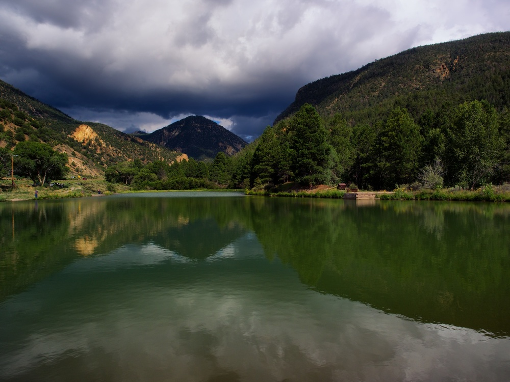 this is a mountain lake near questa, nm - shot it this past summer while in the area escaping the texas heat!