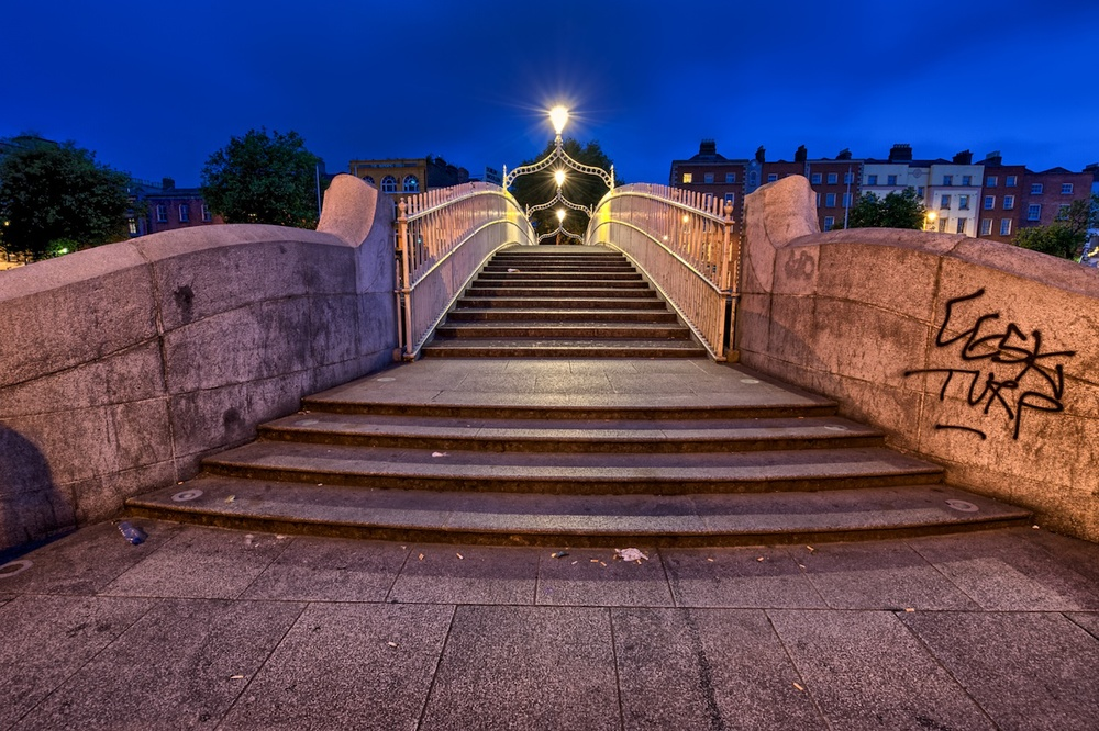 and this is the entry to the ha'penny bridge