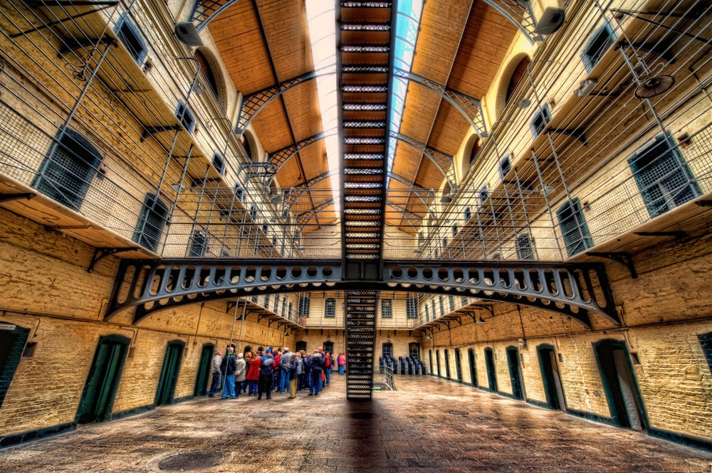 kilmainham gaol, which is a historic jail-turned-museum, just a short cab ride from the historic district - and well worth the trip!
