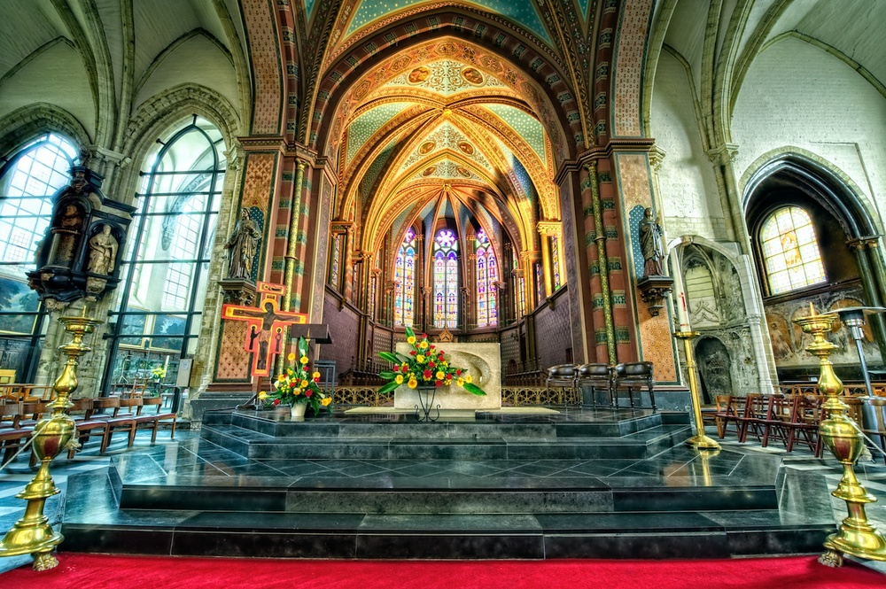 notre dame de la chappelle - a fabulous church just outside the central historic district - and well worth a visit!