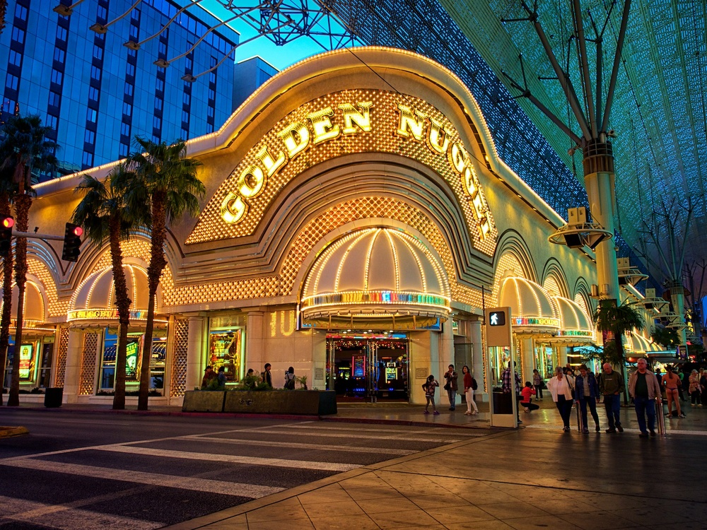 the golden nugget casino at the fremont street experience - very cool area and very old school here!