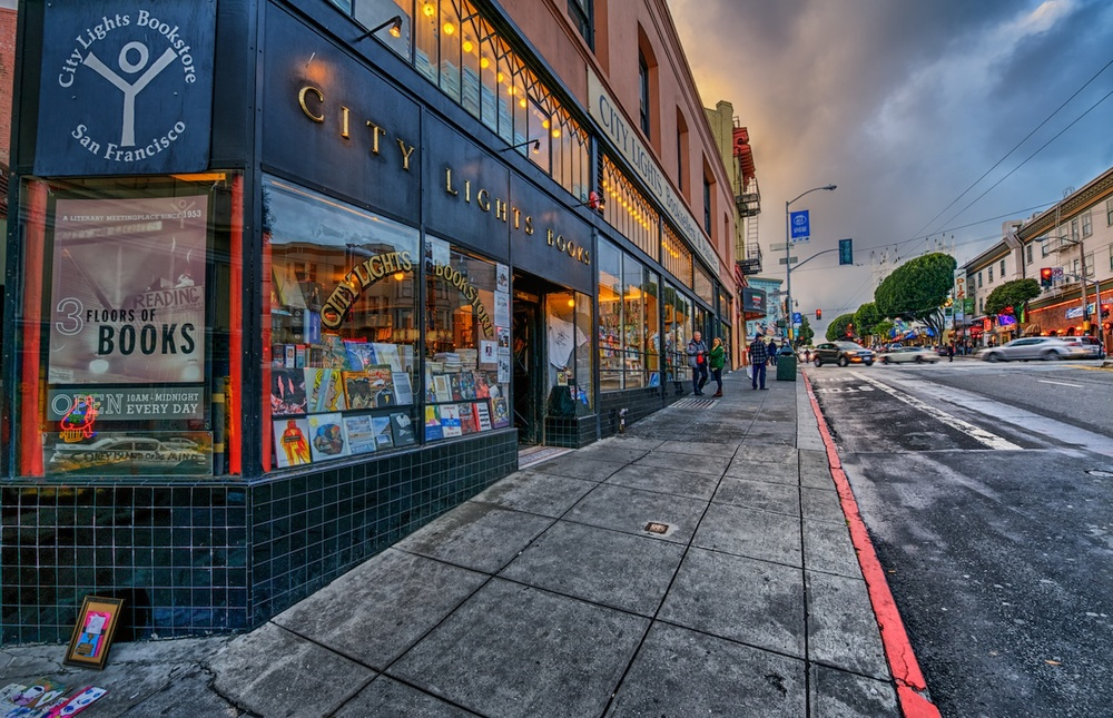 City Lights Bookstore in North Beach, famous for being a hangout of the Beat Poets.
