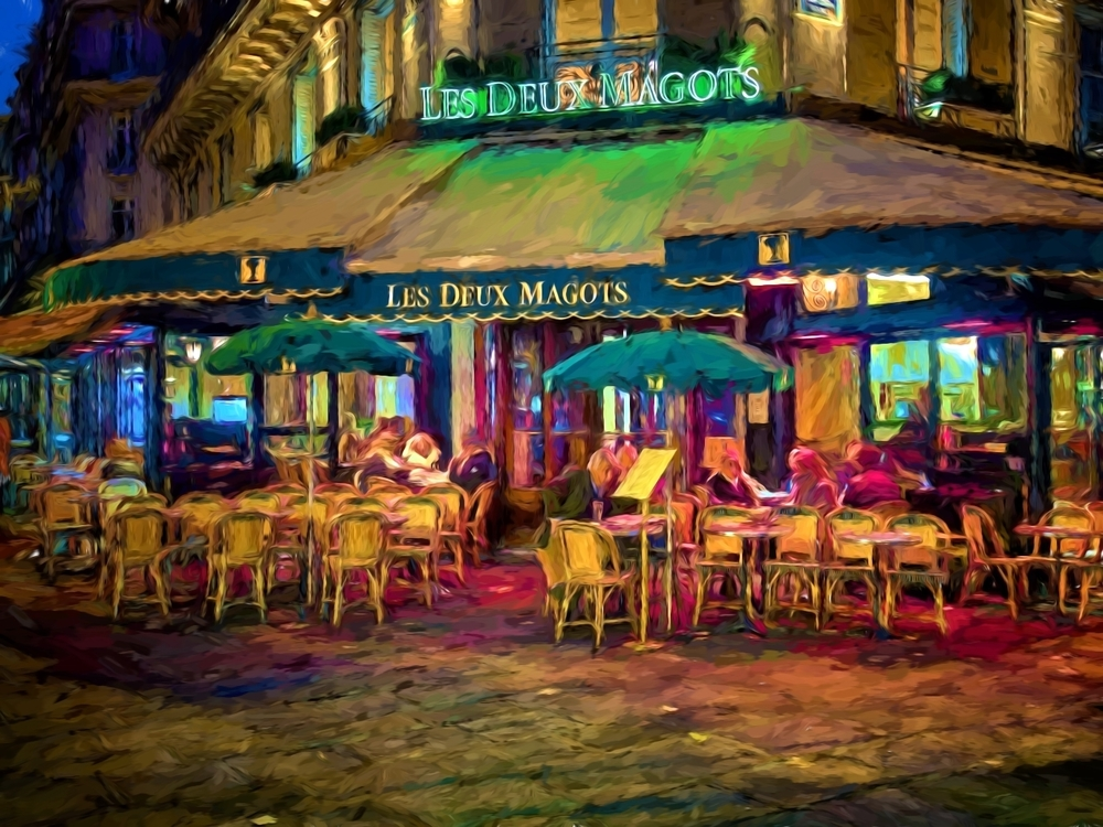 Les deux magots, a famous cafe in paris