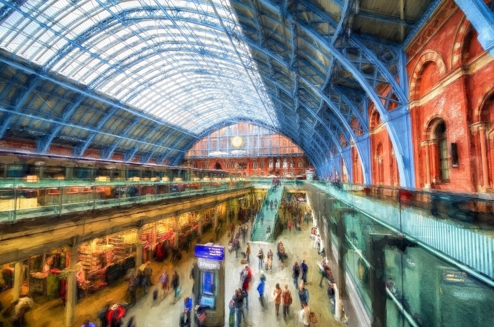 st. pancras international station in london - where you can catch the train to paris!