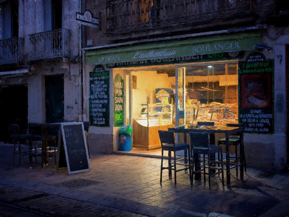 a boulangerie in montpellier, france